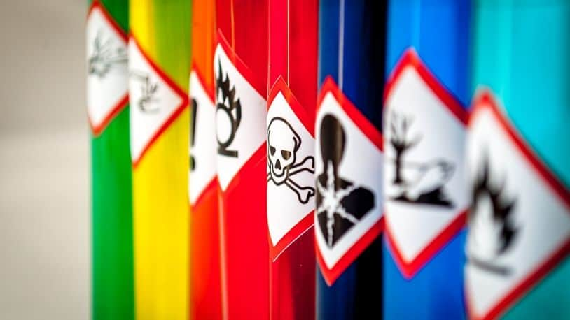 handling of chemicals